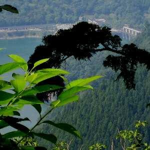 小河内峠から望む奥多摩ダム
