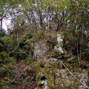 丹沢雨山峠から鍋割山の鎖場