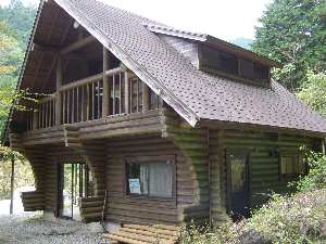 水源林にある建物